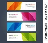 vector abstract design banner... | Shutterstock .eps vector #1521455564