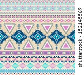 tribal striped seamless pattern.... | Shutterstock .eps vector #152145569