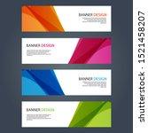 vector abstract design banner... | Shutterstock .eps vector #1521458207