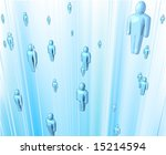 Conceptual business illustration representing people networking together and the flow of information. - stock photo