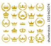 crown icon set heraldic symbol... | Shutterstock .eps vector #1521462074