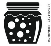 tasty jam jar icon. simple... | Shutterstock .eps vector #1521464174