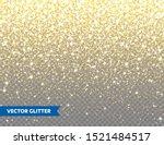 sparkling golden glitter on... | Shutterstock .eps vector #1521484517