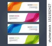 vector abstract design banner... | Shutterstock .eps vector #1521502427