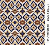 ikat geometric folklore... | Shutterstock .eps vector #1521515177