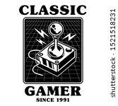 old school vintage joystick for ...   Shutterstock .eps vector #1521518231