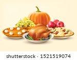 thanksgiving day background... | Shutterstock .eps vector #1521519074