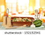 casserole with vegetables and... | Shutterstock . vector #152152541