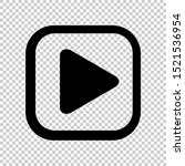 play icon for video isolated...
