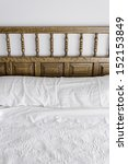 bed sheets and wood headboard... | Shutterstock . vector #152153849