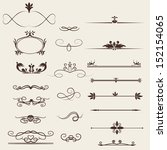 calligraphic design elements... | Shutterstock .eps vector #152154065