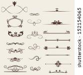 calligraphic design elements... | Shutterstock .eps vector #152154065