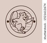 Beaver Vintage Logo Badge Styl...
