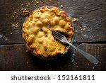 Apple Pie On A Brown Rustic...