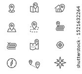 set of location related icon... | Shutterstock .eps vector #1521632264