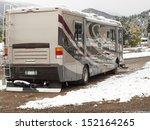 rv campsite in snow at estes... | Shutterstock . vector #152164265