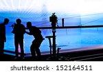 silhouettes of film crew in... | Shutterstock . vector #152164511