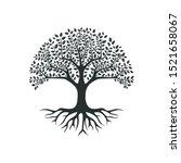 Vector Black Tree Of Live Icon...