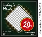 social media banner for food...   Shutterstock .eps vector #1521664811