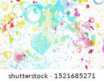 colorful watercolor blots and... | Shutterstock . vector #1521685271