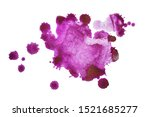 colorful watercolor blot and... | Shutterstock . vector #1521685277