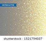 sparkling golden glitter on...   Shutterstock .eps vector #1521754037