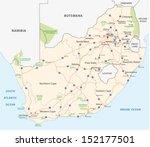 south africa road map - stock vector