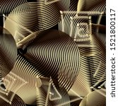textured gold 3d greek style...   Shutterstock .eps vector #1521800117