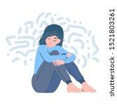 mental disorder. depression... | Shutterstock .eps vector #1521803261