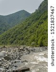 Small photo of Nature reserve views of the beautiful mountains of Azerbaijan and rivers inaccessible places for humans