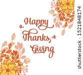 lettering text of thanksgiving  ... | Shutterstock .eps vector #1521848174