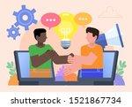 distance business agreement.... | Shutterstock .eps vector #1521867734