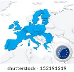 highlighted european union on... | Shutterstock . vector #152191319