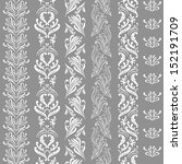 set of vertical lace borders.... | Shutterstock .eps vector #152191709