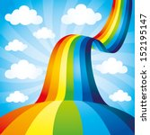 vector background. rainbow. | Shutterstock .eps vector #152195147