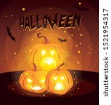 pumpkins cartoons design ... | Shutterstock .eps vector #1521954317