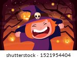costumed child design ... | Shutterstock .eps vector #1521954404