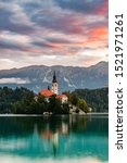 Bled Lake In Slovenia With...