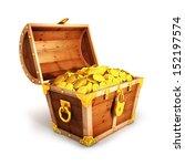 3d Golden Treasure Chest ...