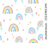 seamless pattern with colorful... | Shutterstock .eps vector #1521981194