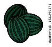 watermelons design  fruit... | Shutterstock .eps vector #1521991871