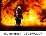 Fireman Wearing Fire Fighter...