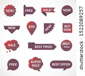 vector stickers  price tag ... | Shutterstock .eps vector #1522089257
