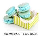 gentle macaroons isolated on... | Shutterstock . vector #152210231