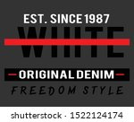 white slogan print for t shirt... | Shutterstock .eps vector #1522124174