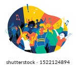 group of people of different... | Shutterstock .eps vector #1522124894