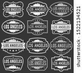 loas angeles california skyline.... | Shutterstock .eps vector #1522134521