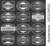 loas angeles california skyline.... | Shutterstock .eps vector #1522134521