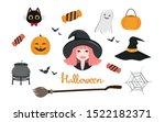 halloween item  the little... | Shutterstock .eps vector #1522182371
