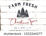 vintage christmas farm fresh... | Shutterstock .eps vector #1522264277